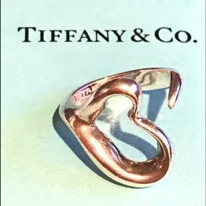 Tiffany & Co. Open Heart Ring 4.5""